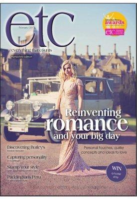 Wedding Fairt feature Q&A in Etc magazine