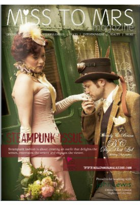 Steampunk shoot from Horsebridge Station featured on the cover of issue 18 Miss to Mrs